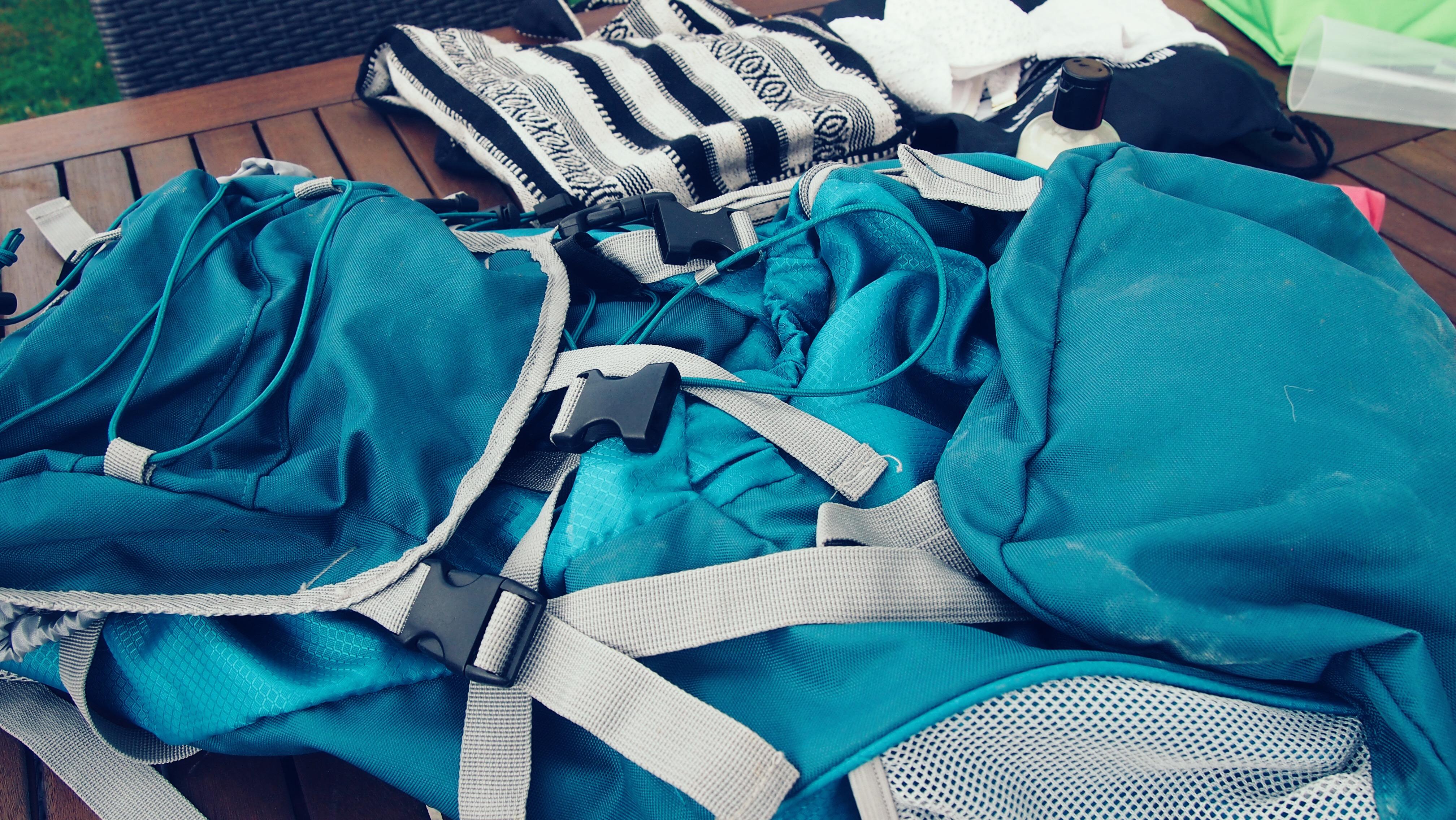 Aldi Wanderrucksack blau